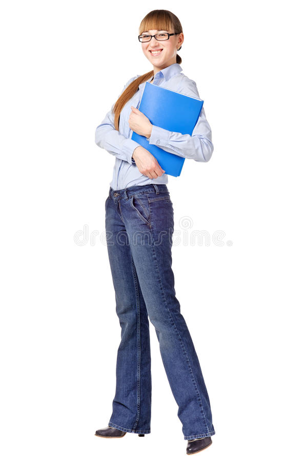 Download Successful Student Holding A Folder And Smiling Stock Image - Image: 23439349