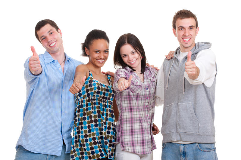 Successful students stock photos