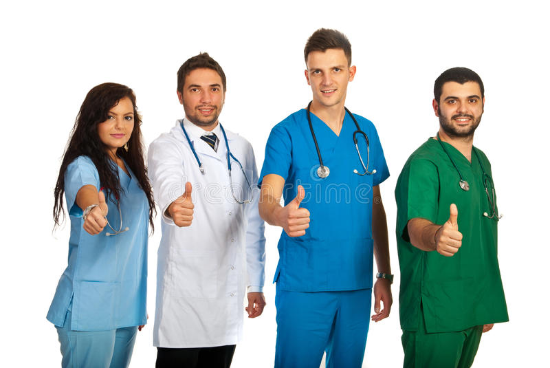 Successful team of doctors royalty free stock images