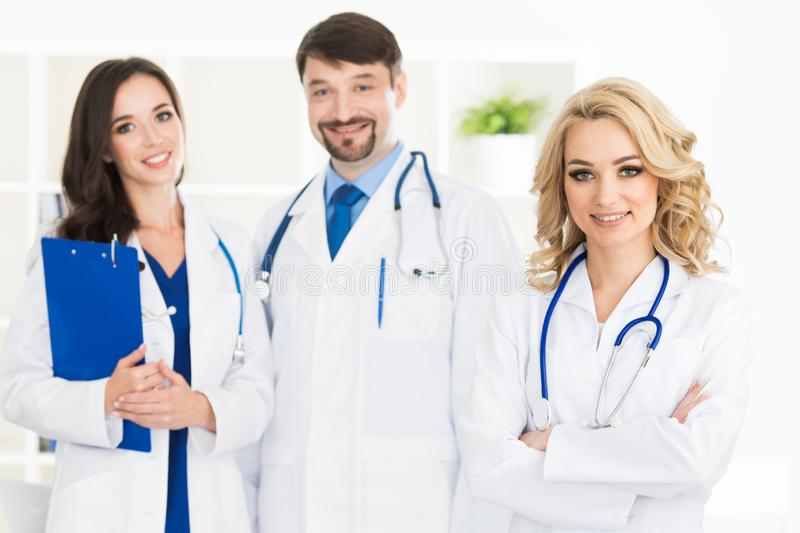 Team of medical doctors stock photography