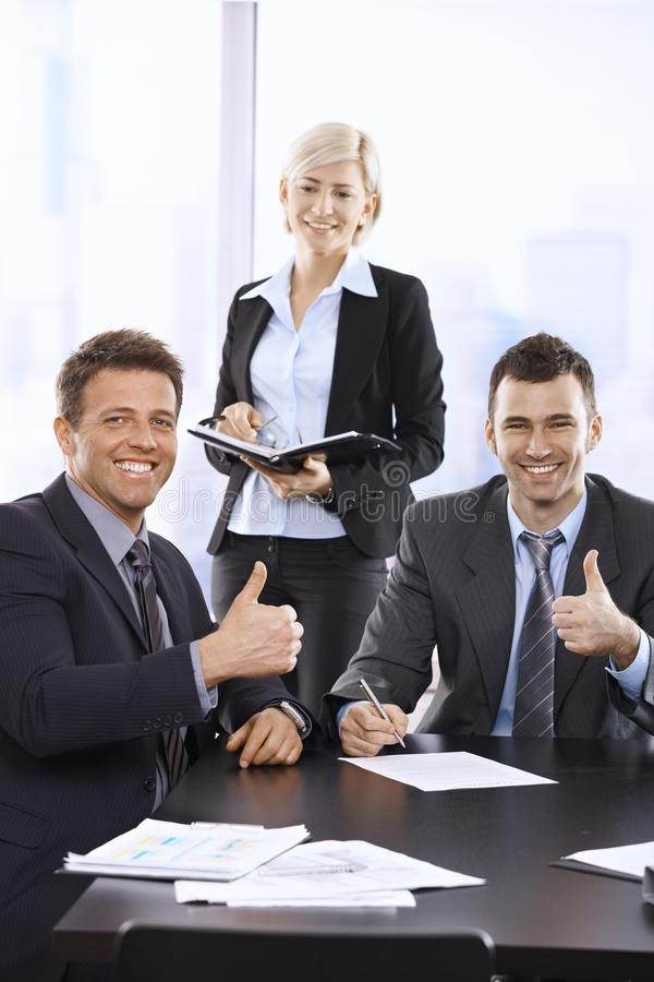 Successful team portrait stock photos