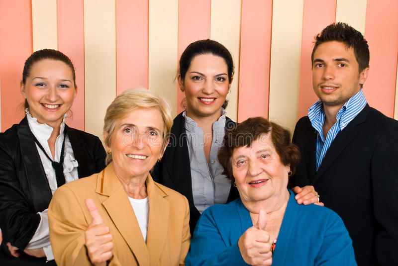 Download Successful teamwork stock photo. Image of cheerful, confident - 14861212
