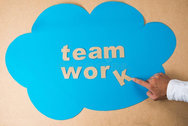 Successful teamwork royalty free stock photo
