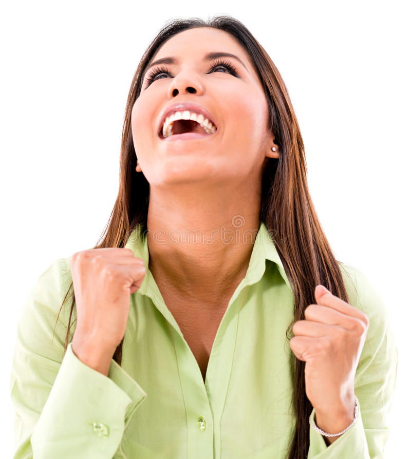 Download Successful Woman Celebrating Stock Photo - Image: 33236324
