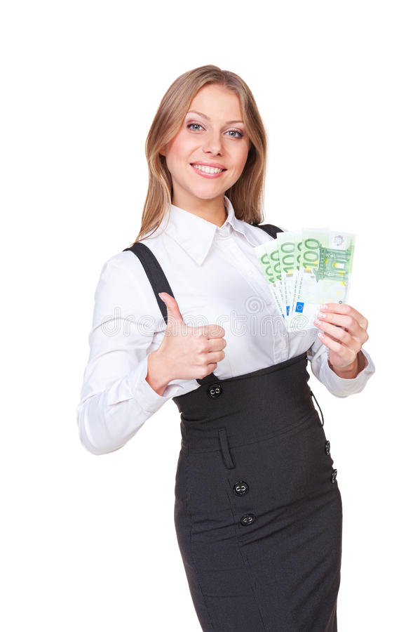 Download Successful Woman Holding The Paper Money Stock Photo - Image: 27480028