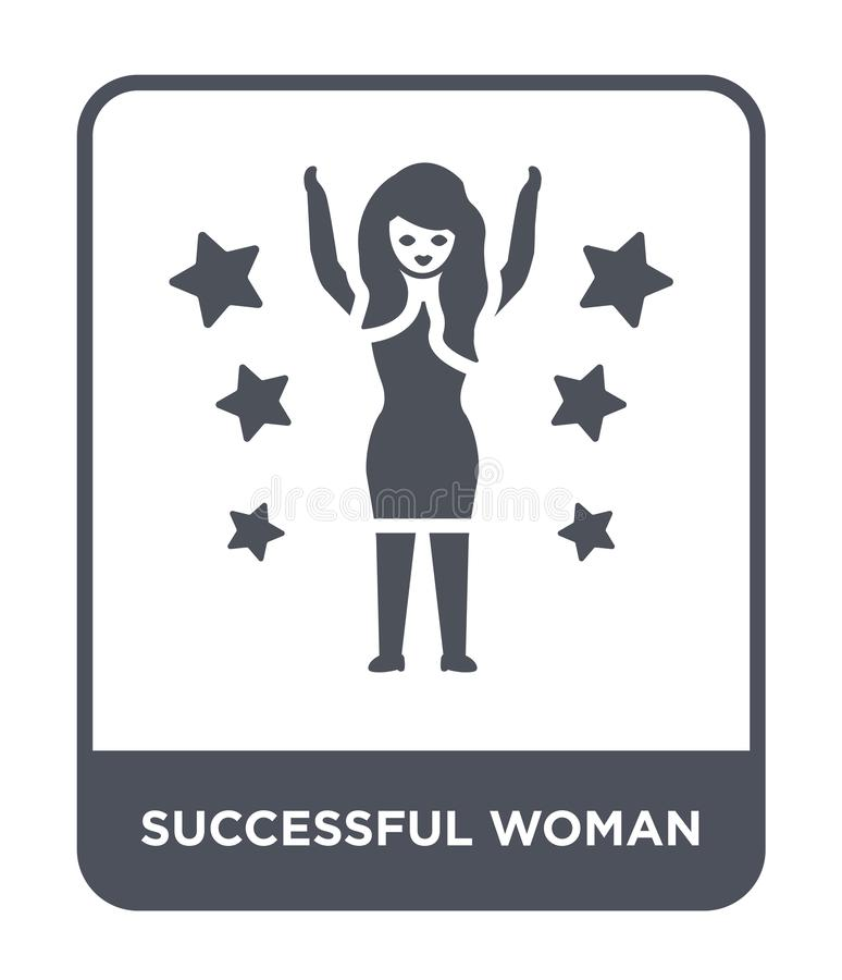 successful woman icon in trendy design style. successful woman icon isolated on white background. successful woman vector icon stock illustration