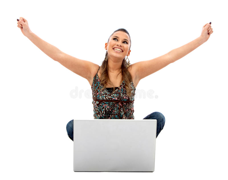 Successful woman with laptop