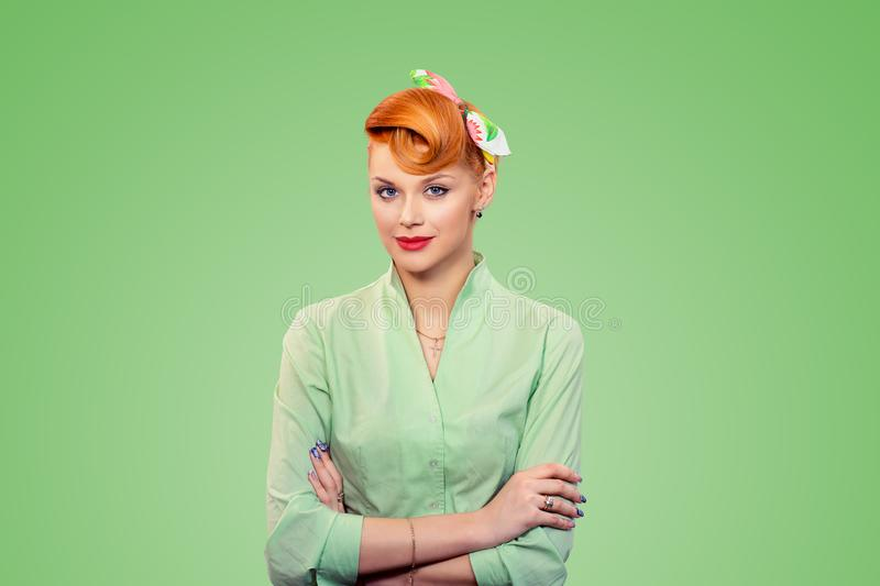 Successful woman smiling royalty free stock photography