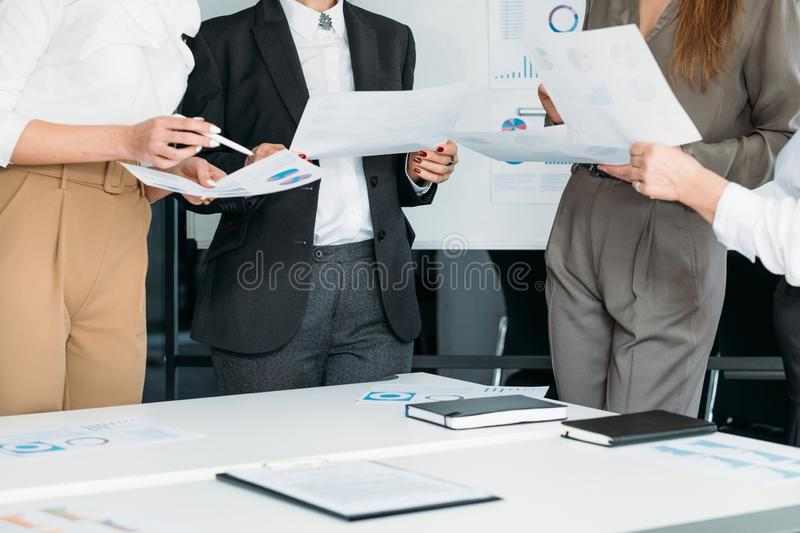 Successful women business corporate meeting royalty free stock photo