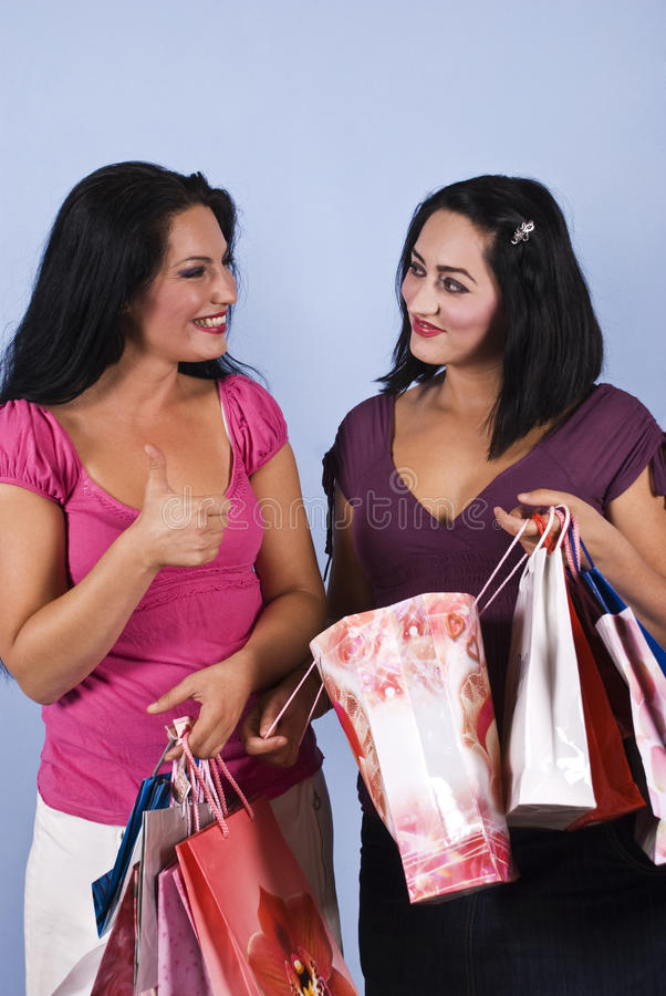 Download Successful women shopping stock image. Image of commerce - 10787827