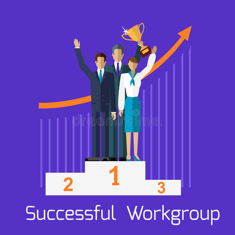 Successful Workgroup People Design stock illustration