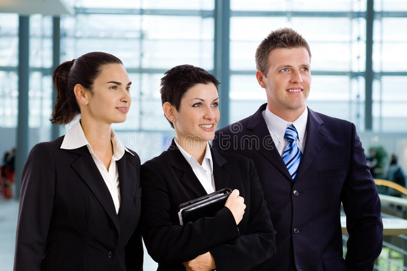 Successful young business people stock image