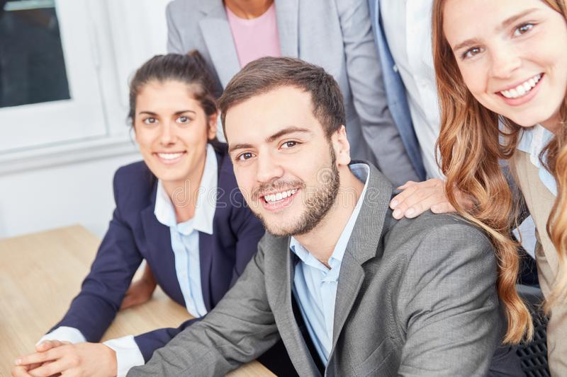 Successful young business people as a start-up team stock image