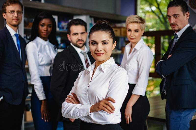 Successful young business people working as a team royalty free stock image