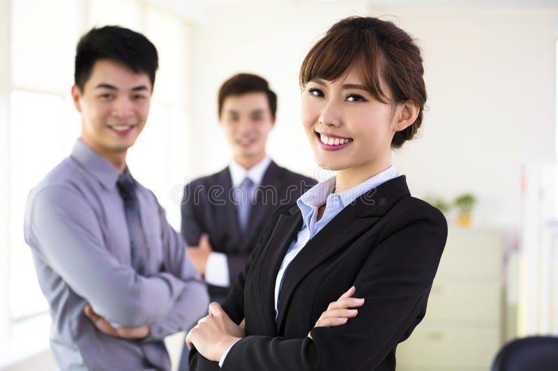 Successful young business team stock photos