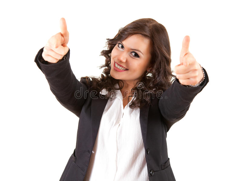 Download Successful Young Business Woman With Thumbs Up Stock Image - Image: 24452387