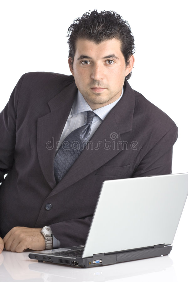 Download Successful Young Businessman With A Lap Top Computer Stock Photo - Image: 1057564
