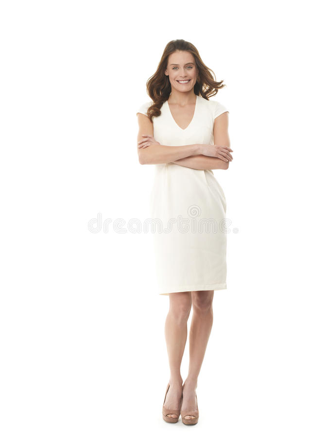 Download Successful Young Businesswoman On White Stock Photo - Image: 30882294