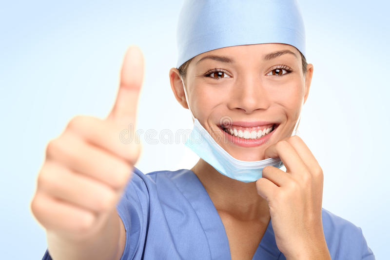 Successful young doctor / nurse royalty free stock images