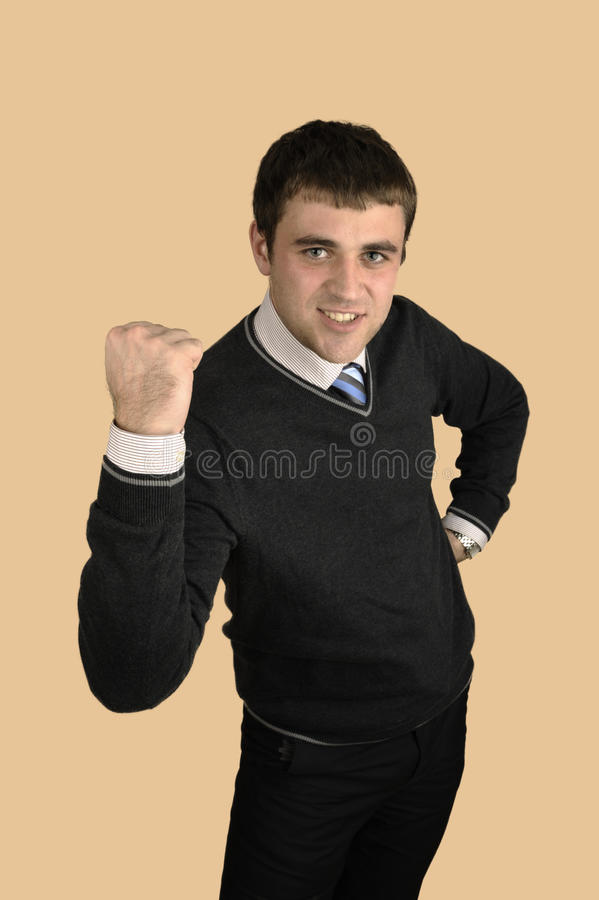 Successful young man stock photography
