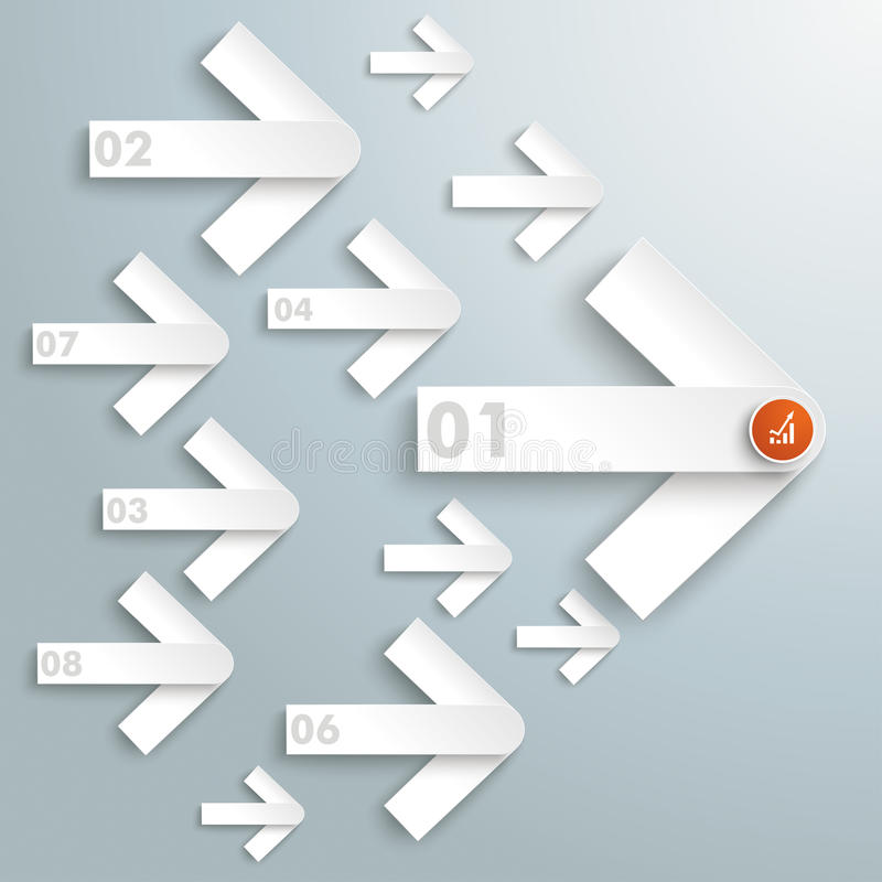 Successfull Nr 1 One Direction PiAd. Infographic design on the grey background. Eps 10 file royalty free illustration