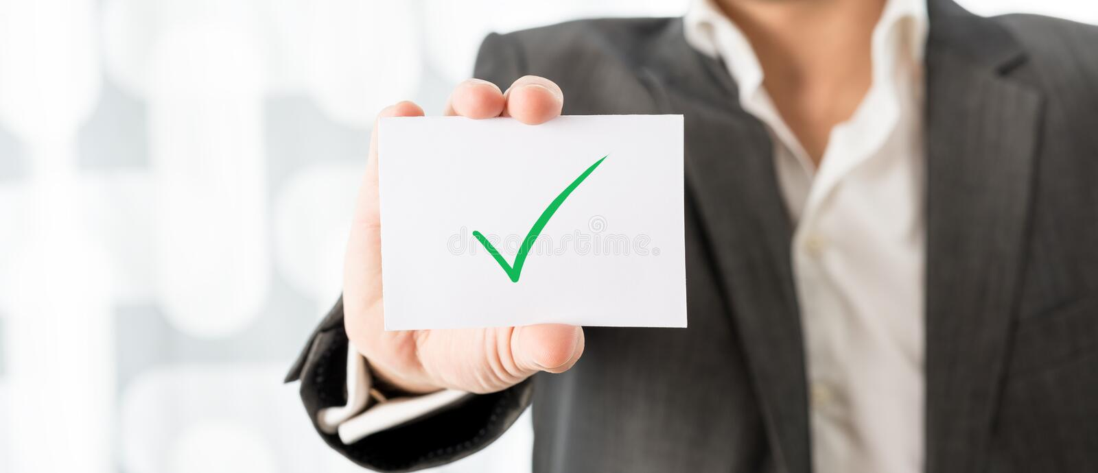 Successfully completed task royalty free stock photos