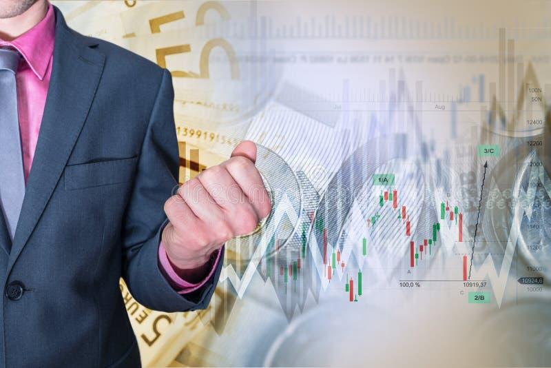 Successo d'investimento di riserva immagini stock
