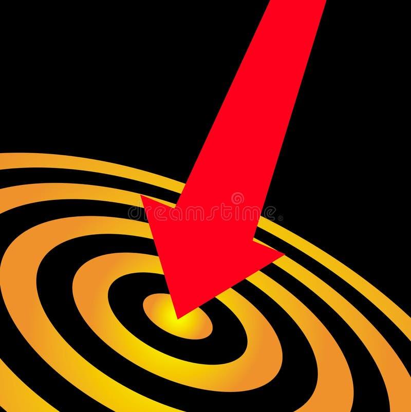 Successo del bullseye dell'occhio di tori illustrazione vettoriale