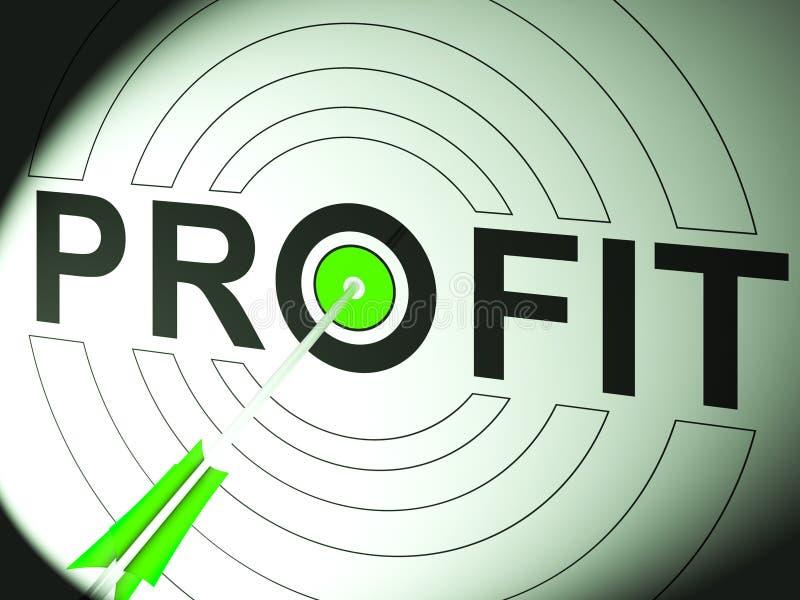 Successo di affari di manifestazioni di profitto nel commercio royalty illustrazione gratis