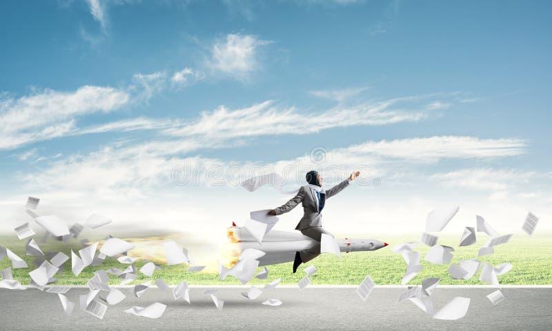 Successo di affari e concetto di risultato degli obiettivi illustrazione di stock