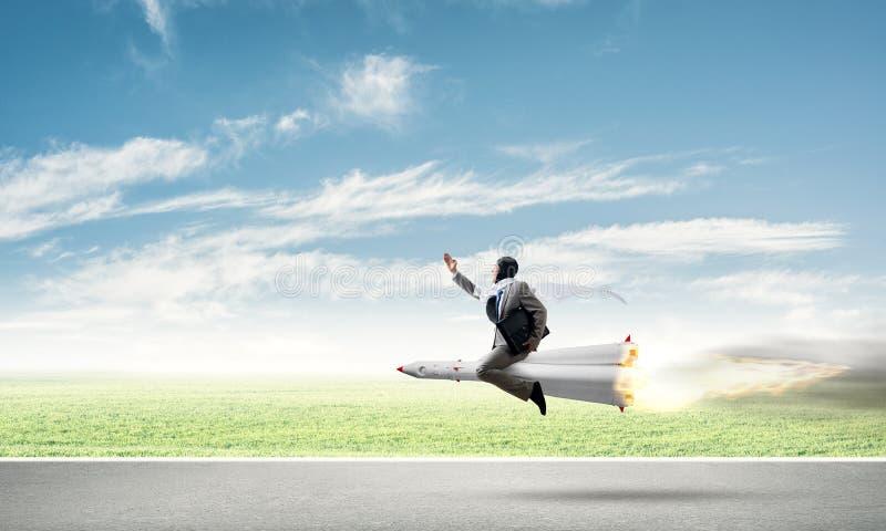 Successo di affari e concetto di risultato degli obiettivi illustrazione vettoriale