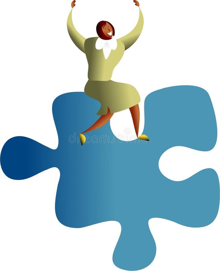 Successo di puzzle illustrazione di stock