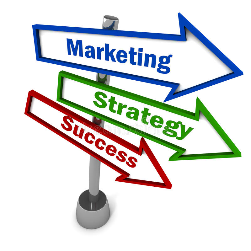 Successo di strategia di marketing illustrazione di stock
