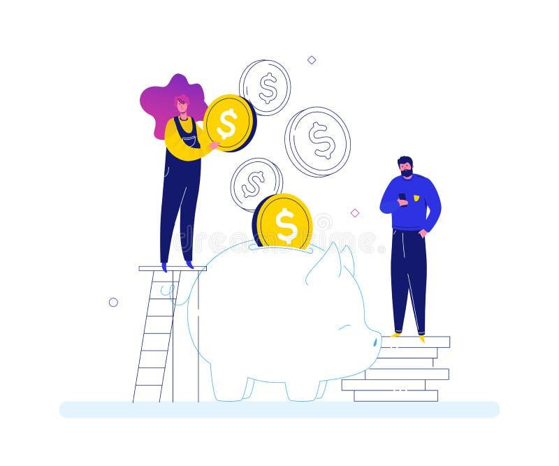 Successo finanziario - illustrazione variopinta di stile piano moderno di progettazione illustrazione di stock