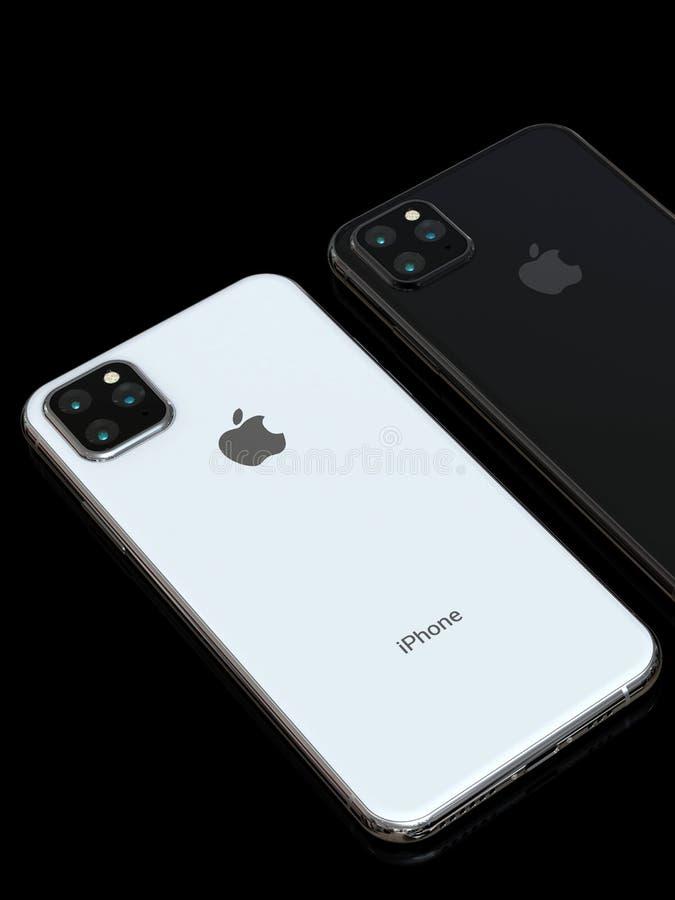 Successore di Xs di iPhone di Apple, 2019, simulazione detta di progettazione immagine stock libera da diritti