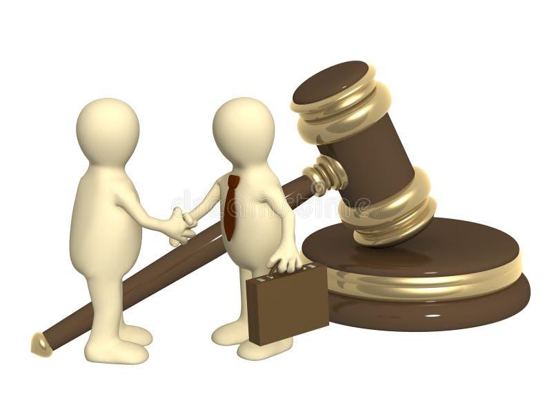 Succesvol besluit van een wettelijk probleem royalty-vrije illustratie