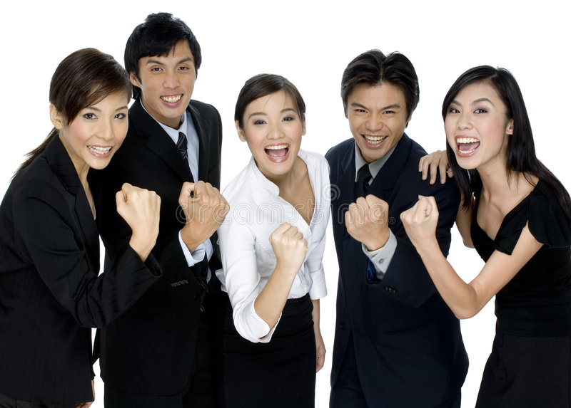 Succesvol Commercieel Team royalty-vrije stock foto's