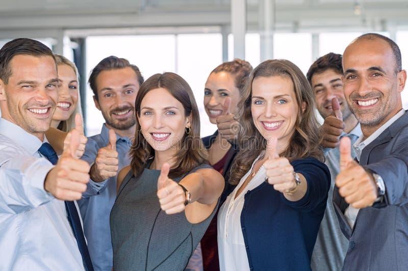 Succesvol Commercieel Team royalty-vrije stock afbeelding