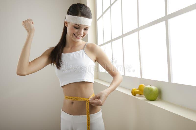 Succesvol dieet! stock foto