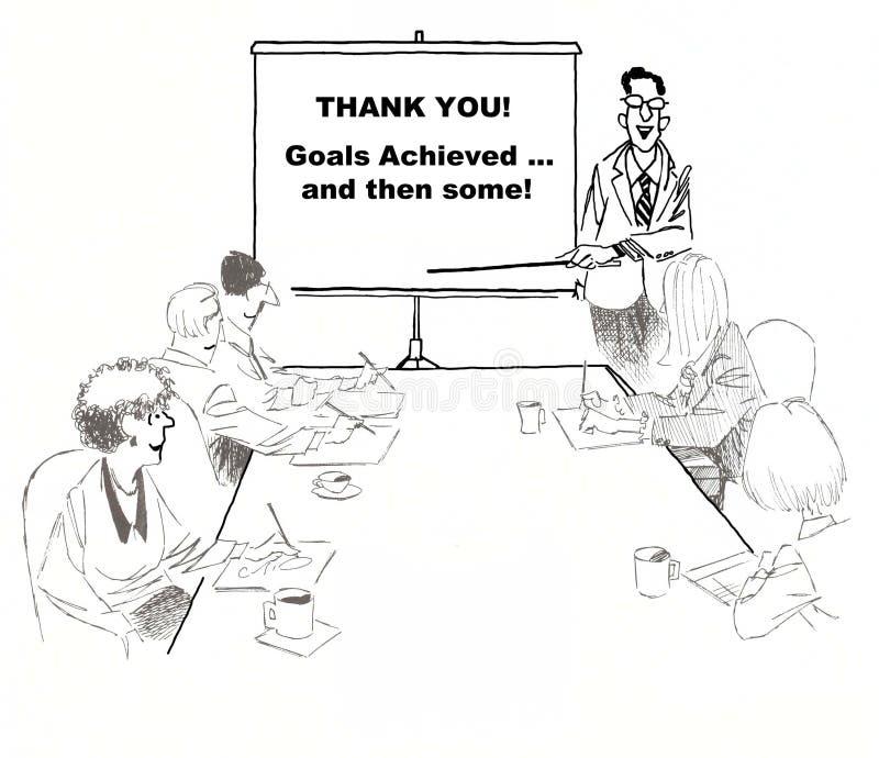 Succesvol Team Project vector illustratie