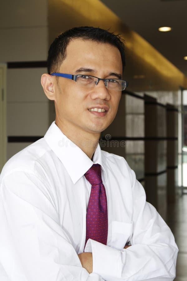 Succesvolle Aziatische Zakenman royalty-vrije stock afbeeldingen