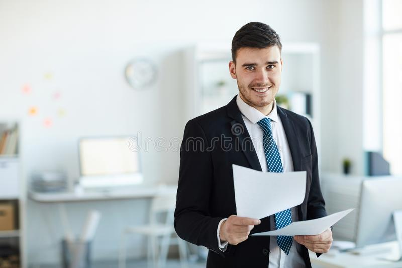 Succesvolle bankier stock fotografie