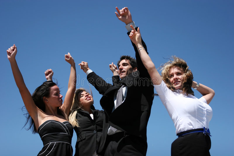 Succesvolle bedrijfsmensen stock foto