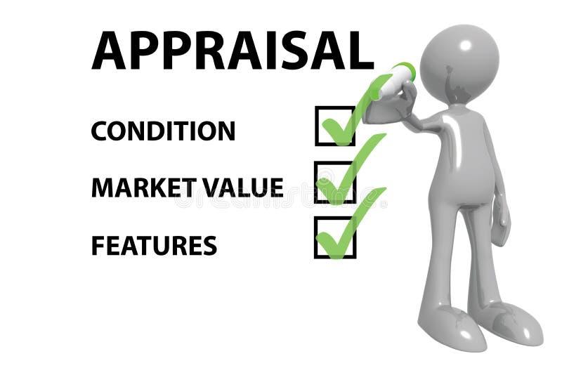 Succesvolle bedrijfsschatting stock illustratie