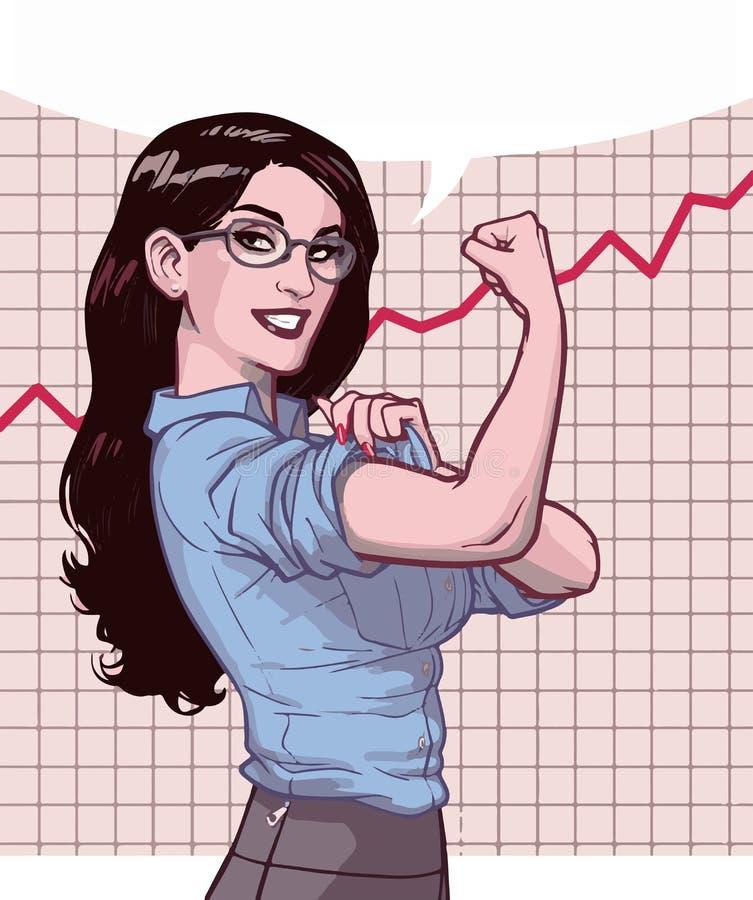 Succesvolle Bedrijfsvrouwengrafiek royalty-vrije illustratie