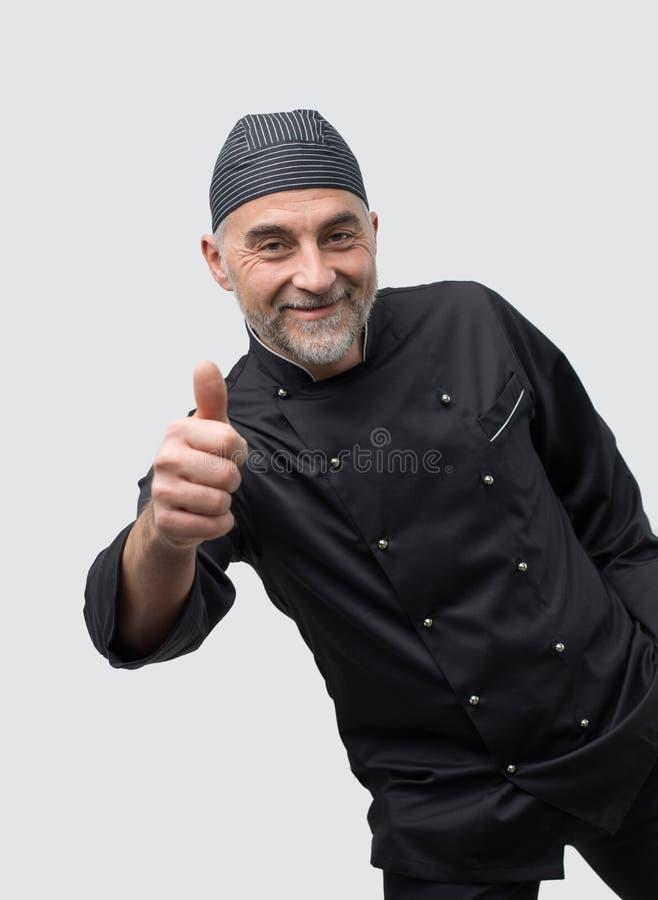 Succesvolle chef-kok stock fotografie