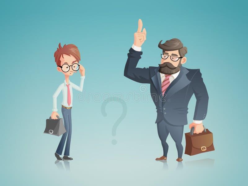 Succesvolle en niet succesvolle zakenlieden royalty-vrije illustratie