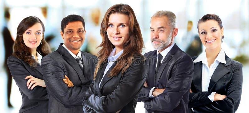 Succesvolle groep bedrijfsmensen stock foto's