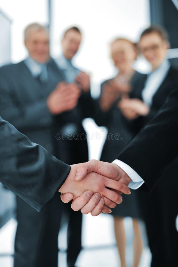 Succesvolle handdruk royalty-vrije stock afbeelding