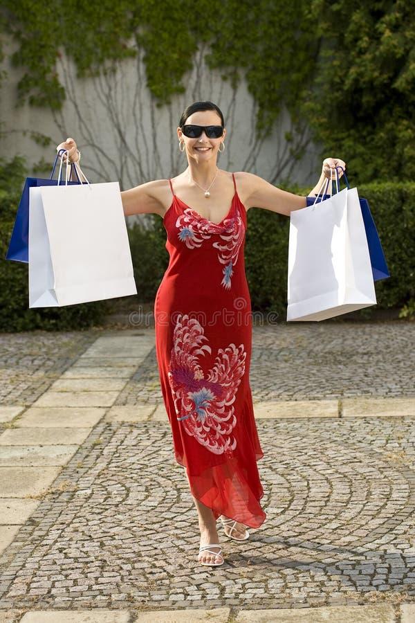 Succesvolle het Winkelen Reis stock foto's